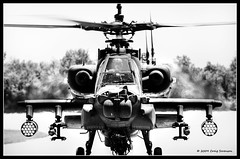 Target Acquired (Cygnus~X1 - Visions by Sorenson) Tags: usa canon army eos spring apache action fb attack indiana airshow helicopter boeing 2009 hdr usarmy unitedstatesarmy rotorcraft ah64 50d ah64apache ef70200mmf28lisusm 1exp indianapolisairshow cmwdblackandwhite mtcomfort mtcomfortairport ef2xextenderii craigsorenson 20090612005842z ah64ad