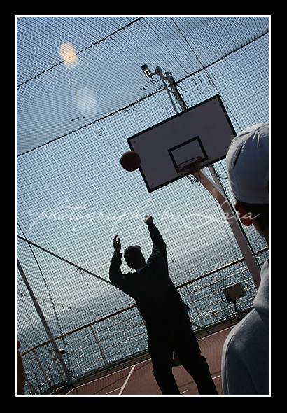 Basketball at sea
