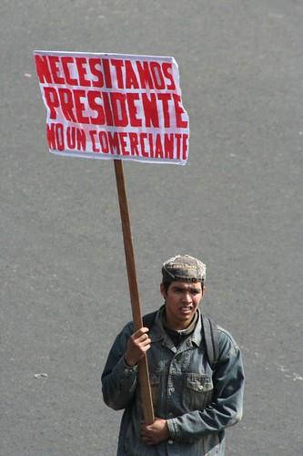 NECESITAMOS PRESIDENTE, NO UN COMERCIANTE por ALTERNATIVA PRENSA.