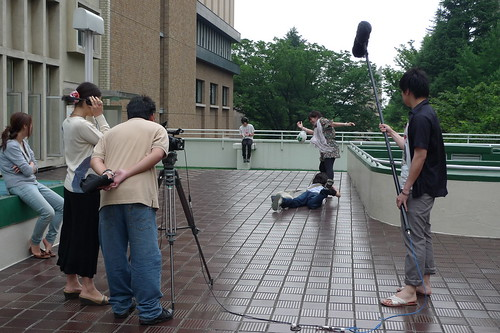 "Filming the climatic catfight of ""3pm"""