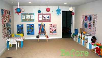 children's playroom- redesign