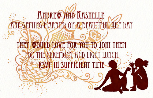 I designed this invitation for Kashelle and Andrew 39s wedding The wording on