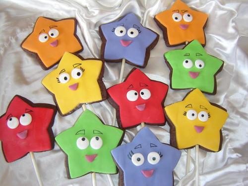 explorer star cookie pops