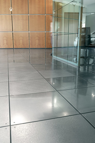 steel flooring in office or elsewhere