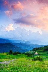Village of Stoikite (Evgeni Dinev) Tags: sunset church graveyard field vertical clouds spring village bulgaria        singhray