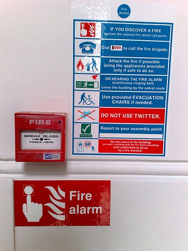 In Case of Fire...Do not use Twitter