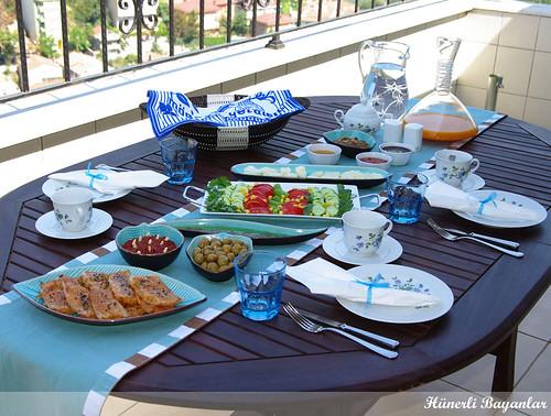 Mavi Kahvaltı Sofrası