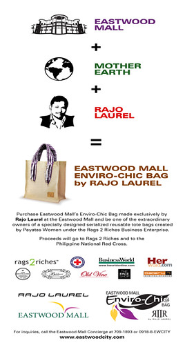Eastwood City's Enviro-Chic Bag by Rajo Laurel