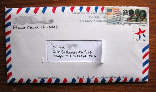 Homemade airmail envelope