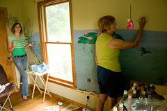 Mural painting (spring_peeper) Tags: baby 20d me mom pond mural celebration lil nusery