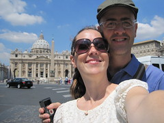 Self potrait at the Vatican