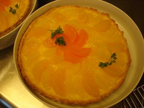 柑橘のタルト