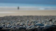 Sun, Sand and Sea... (On the mountain at dawn) Tags: blue light sea sun mountain blur beach silhouette dawn sand nikon dof bokeh no pebbles depthoffield manual tamron 90mm f28 metering d3000