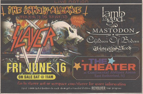 06-16-06 Slayer/Lamb Of God/Mastodon/Children Of Bodom/Thine Eyes Bleed @ Star Theater, East Rutherford, NJ