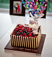 Paaarty! (149/365) (Madmezza (also @reikanphoto)) Tags: birthday party cake fruit happy chocolate celebration delicious 365 50th 149365 reikanphotography