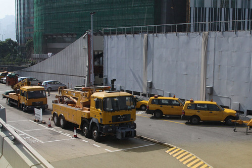 Tow trucks and services vehicles for the Cross-Harbour Tunnel