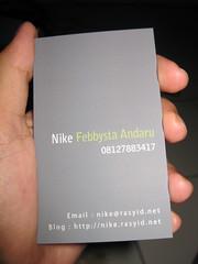 Kartu nama Nike