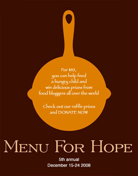 Menu for Hope V