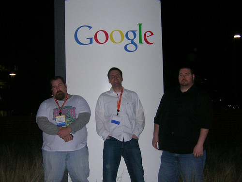 Mat Siltala, David Mink, and Andrew Melchior at the Google Campus