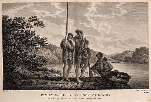 008-Familia de nativos en la bahia Dusky Nueva Zelanda