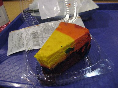 Rainbow Cheesecake at Pop Century