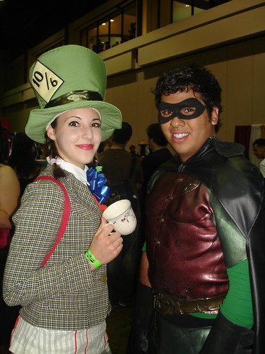 Mad Hatter and Robin by brennan.v