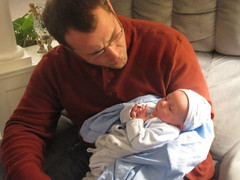 Hubby with our new nephew (born 12-31-08) I was in delivery room!