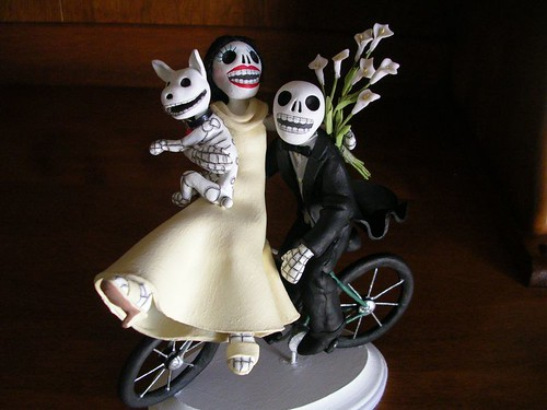 Day of the Dead wedding cake topper