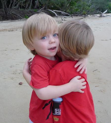 cedar & lucas hugs