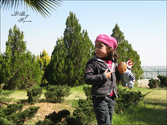 who's that? (Areen Natsheh) Tags: pink trees plants brown green girl that kid doll  whos leen            lenoo