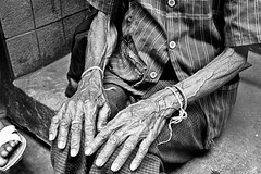 Elderly woman's hands - Bangkok, city of angels