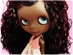 My new chocolate girl :) (Sabrina Eras) Tags: brown bigeyes doll dress mimi plastic custom chocolat blackblythe primadollie sabrinaeras pureneemobody aubrena