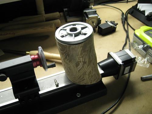 euc log mounted to faceplate with sheet metal screws