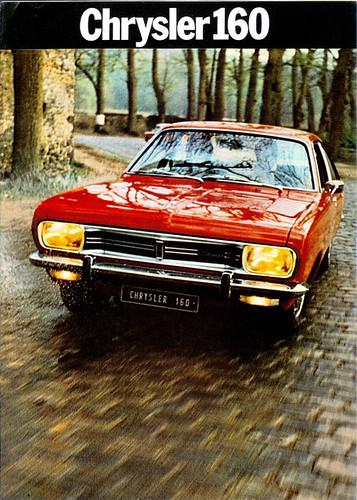 SIMCA CHRYSLER 160 - 1972 Chrysler 160 GT 1972 Chrysler 160 1972