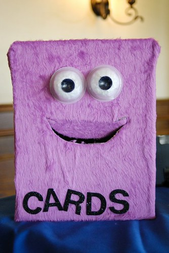 Monster card boxes that eat your wedding cards are big right now