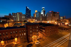 Minneapolis from Portland (Greg Benz Photography) Tags: photography midwest photos minneapolis wellsfargo twincities traffictrails downtownminneapolis minneapolisskyline carbonsilver photosofminneapolis minneapolishdr 225ssixth