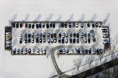Two slots free (Aerial Photography) Tags: fotoklausleidorfwwwleidorfde winter snow white rectangular order parking cars tidy 18022009 grafic 1ds24469