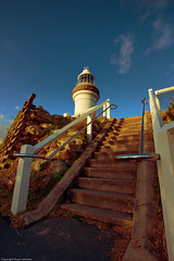 Steps Leading to the Cape Byron Lighthouse (Shaun Johnston) Tags: light lighthouse dusk stairway newsouthwales byronbay capebyron brunswickheads