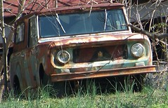 forgotten Scout (Dave* Seven One) Tags: rot history abandoned nature neglect rust time decay rusty international forgotten past dents fallingapart abandonedcars scout800 abandonedtrucks scout80
