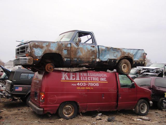 truck pickup dodge junkyard mopar d100 ram