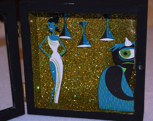 3d pop art shadow box