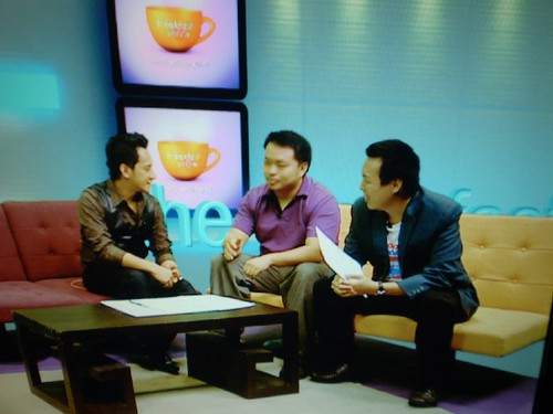 NTV7 Breakfast show host - Nazrudin Rahman (Naz) with Daniel Cerventus Lim and Daniel YS Tan