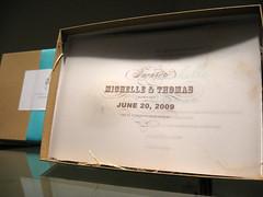 Sand Dollar Letterpress Invitation - Box Enclosure