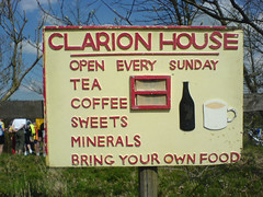 Clarion house sign