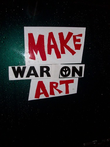 Make War On Art Bumper Sticker