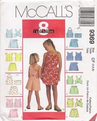 McCall's 9369 (Artdoodads.etsy) Tags: girls girl fashion kids children uncut pattern child top sewing crafts craft sew shorts supplies supply skort sewingpattern mccalls 9369