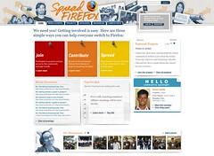 New Spread Firefox homepage