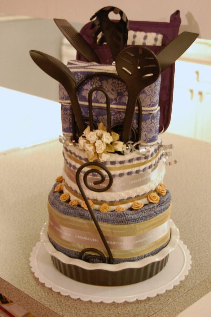Blueberry Kitchen Towel Cake