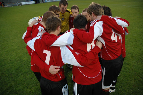 UWE men's team talk