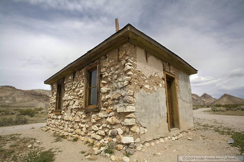 A building in Rhyolite, Nevada